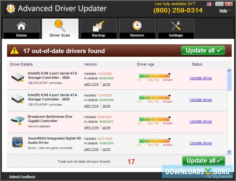 advanced driver updater key 2018