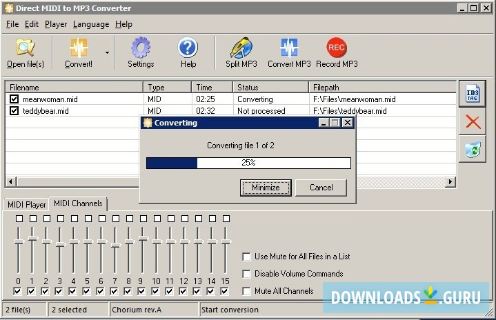 Download free mp3 to midi converter (Windows)