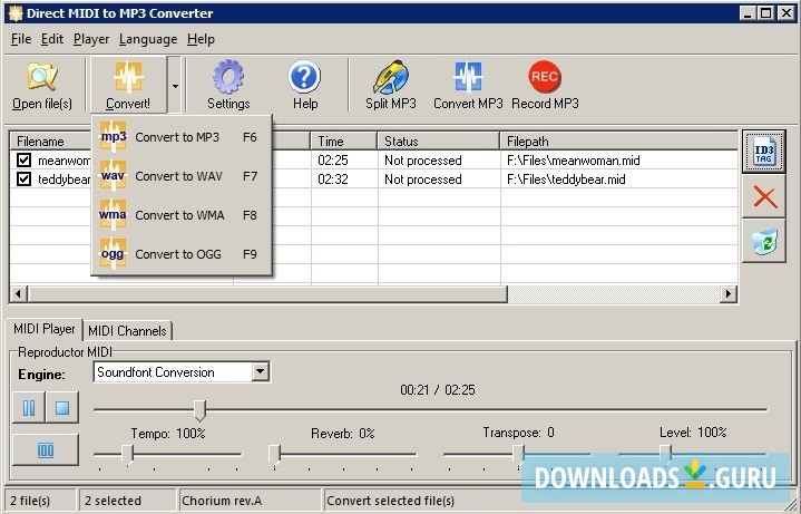 Download mp3 converter .exe for free (Windows)