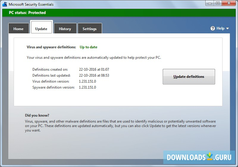 Download Microsoft Security Essentials for Windows 10/8/7 ...