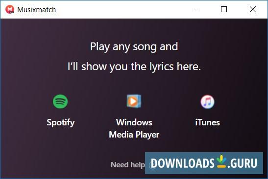 musixmatch lyrics player exe