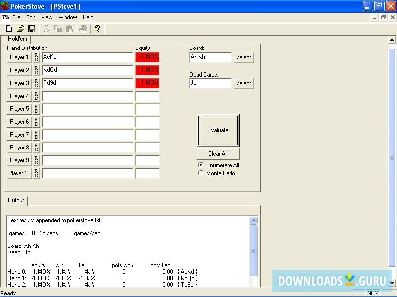 Download Pokerstove