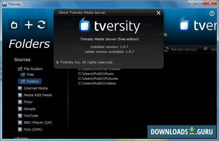 descargar gratis tversity media server