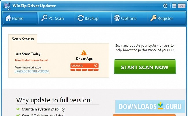 activation code for winzip driver updater